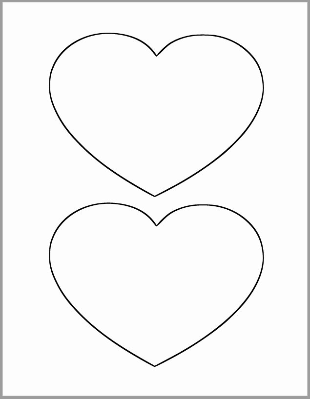 6 Inch Heart Template Unique 6 Inch Heart Printable Template Heart Cutout