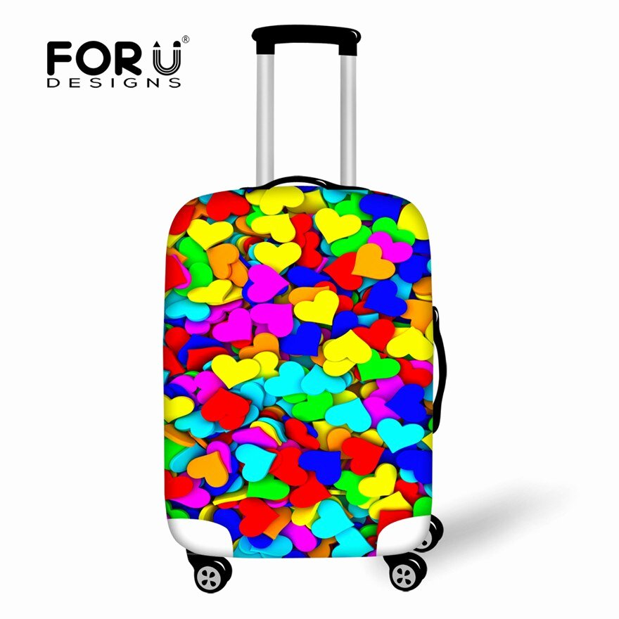 6 Inch Heart Template Unique forudesigns Durable Travel Luggage Cover Luggage