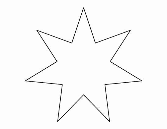 6 Inch Star Elegant 6 Inch Star Template Invitation Template