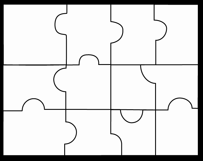 8 Piece Puzzle Template Best Of 4 Piece Puzzle Template Clipart Best