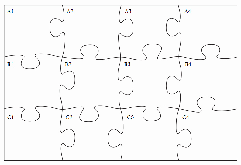 8 Piece Puzzle Template Best Of Gallery for Cool Puzzle Pieces Template