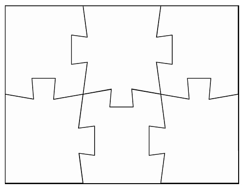 8 Piece Puzzle Template Elegant Blank Jigsaw Puzzle Templates