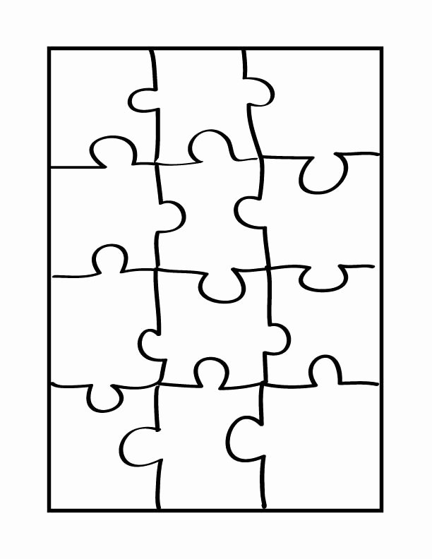 8 Piece Puzzle Template Fresh Printable Blank Puzzle Pieces Clipart Best