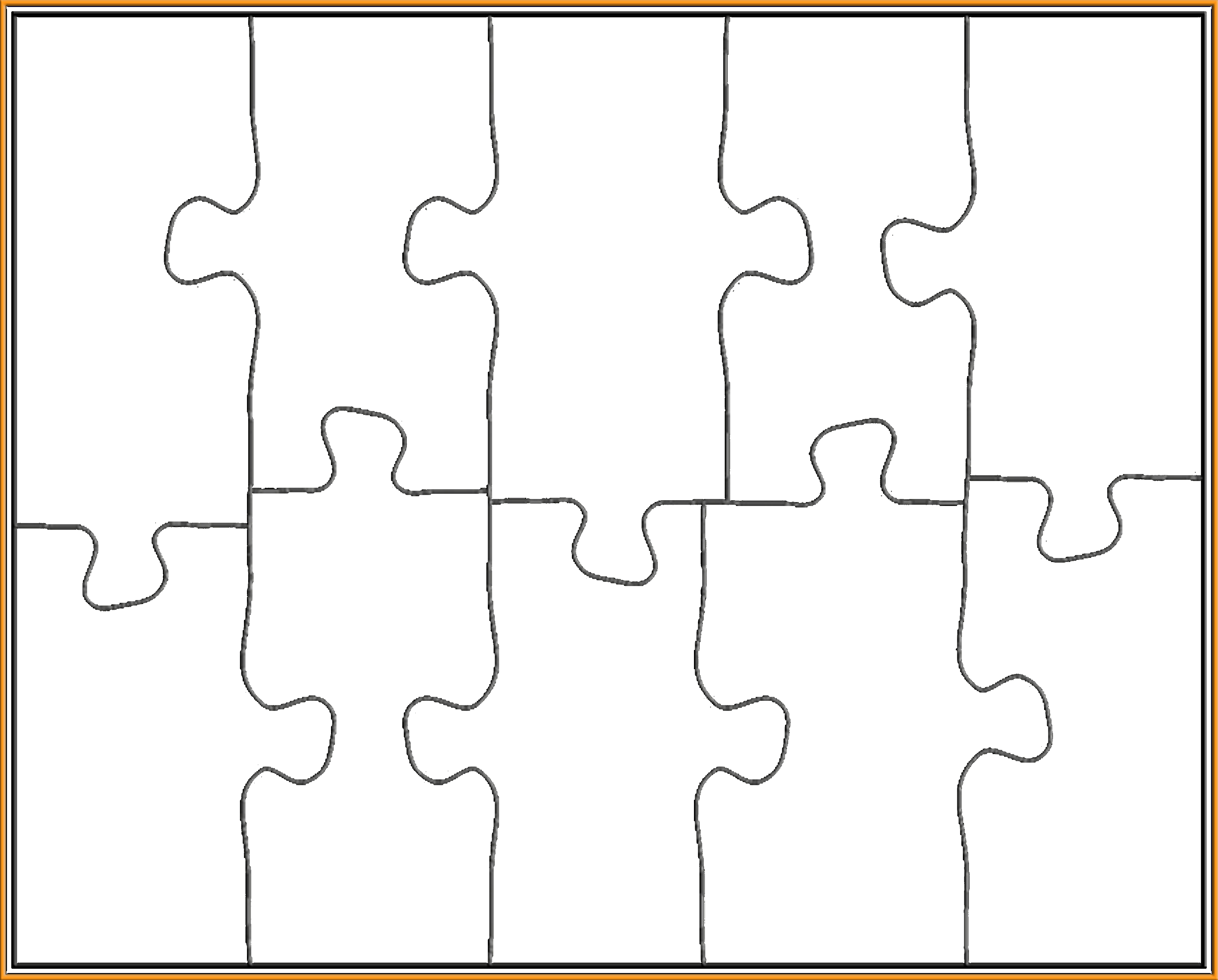 8 Piece Puzzle Template Inspirational 8 X 10 Inch 10 Piece Puzzle
