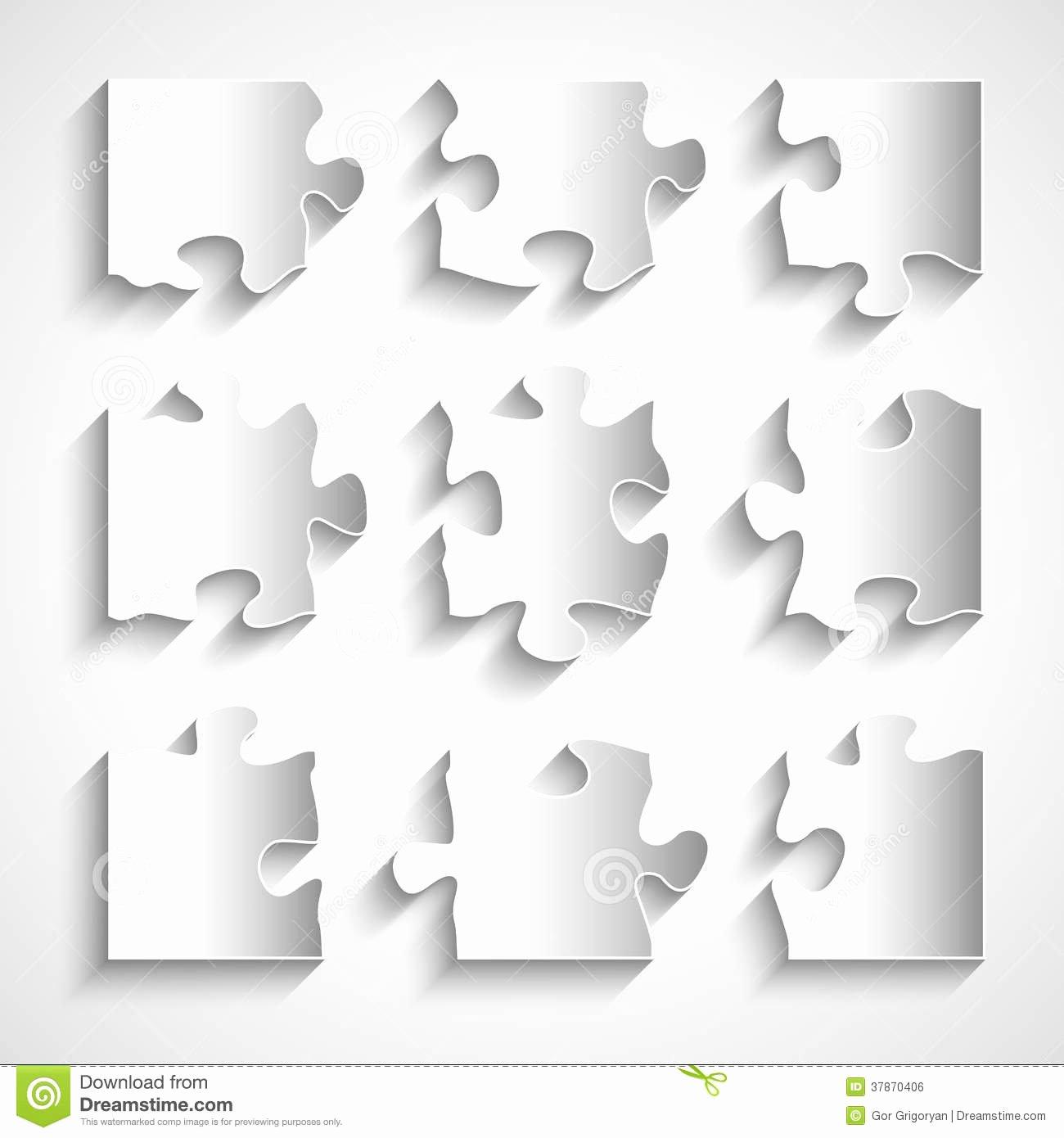 8 Piece Puzzle Template Inspirational Flat Design 9 Piece Puzzle Template Stock Vector