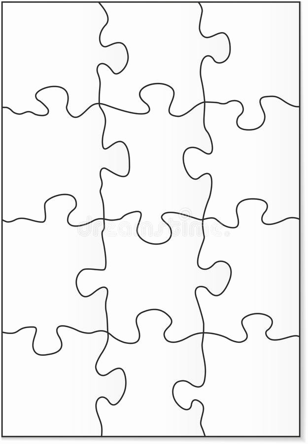 8 Piece Puzzle Template Lovely 12 Piece Puzzle Template Stock Vector Illustration Of