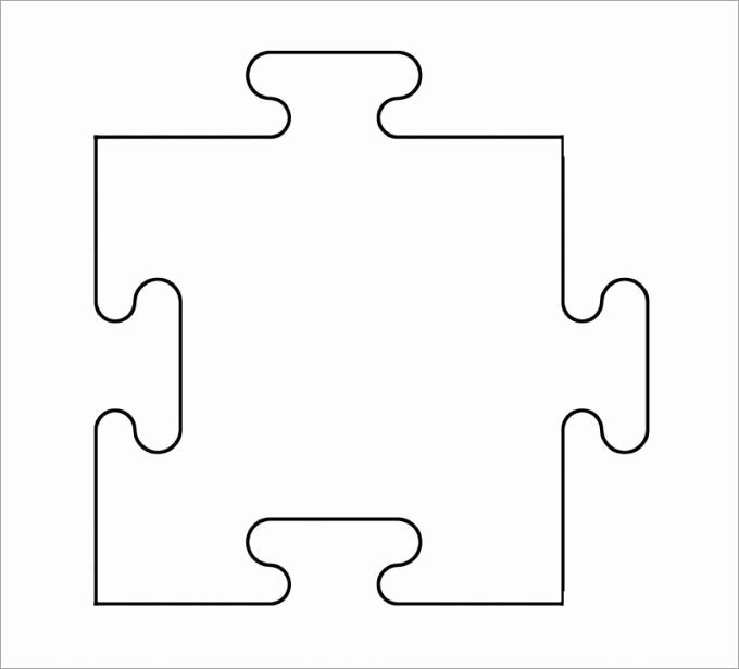 8 Piece Puzzle Template New 1000 Ideas About Puzzle Piece Template On Pinterest