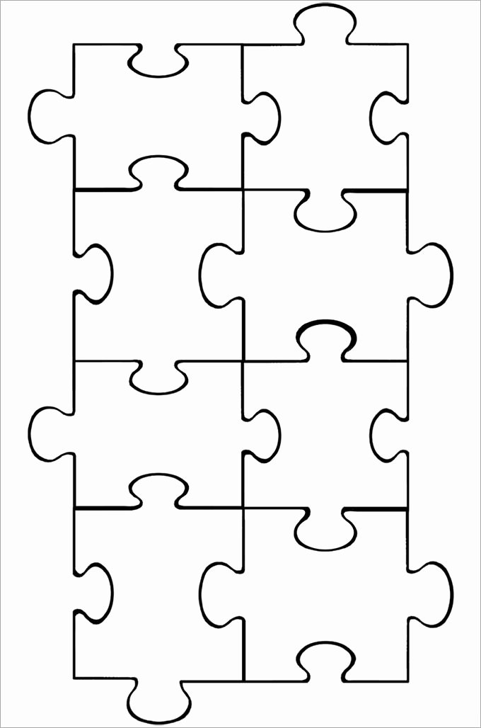 8 Piece Puzzle Template New Puzzle Layout thevillas