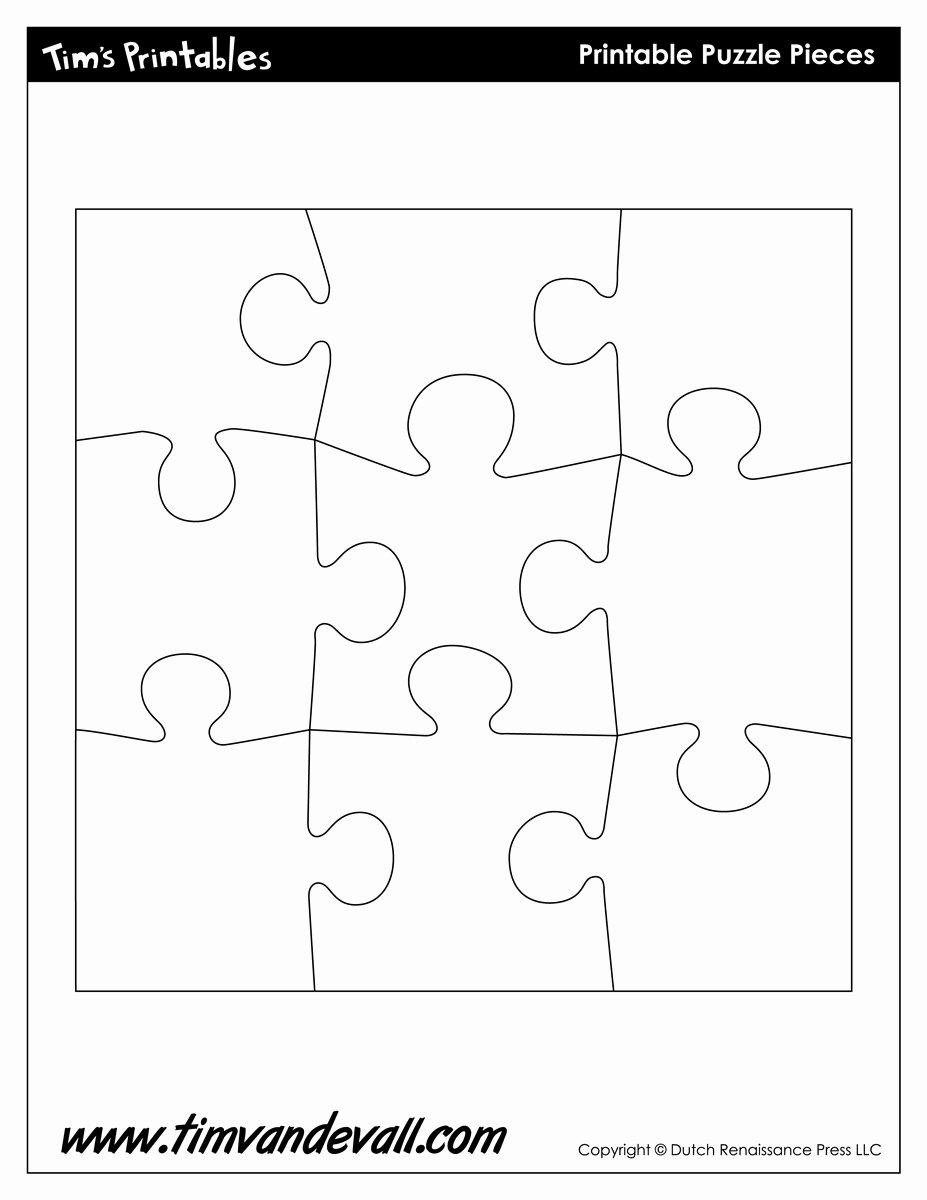 8 Piece Puzzle Template Unique Puzzle Piece Shapes Template Tim S Printables
