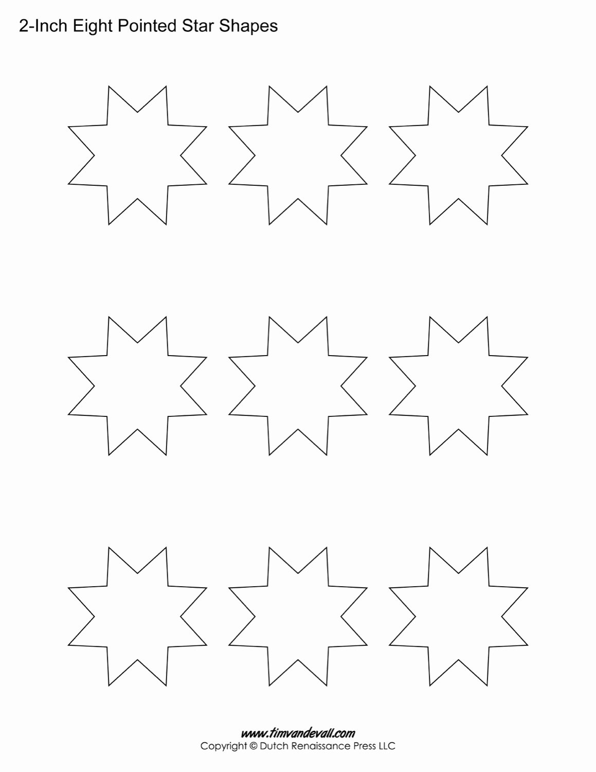 8 Point Star Template Beautiful Free Eight Pointed Star Shapes