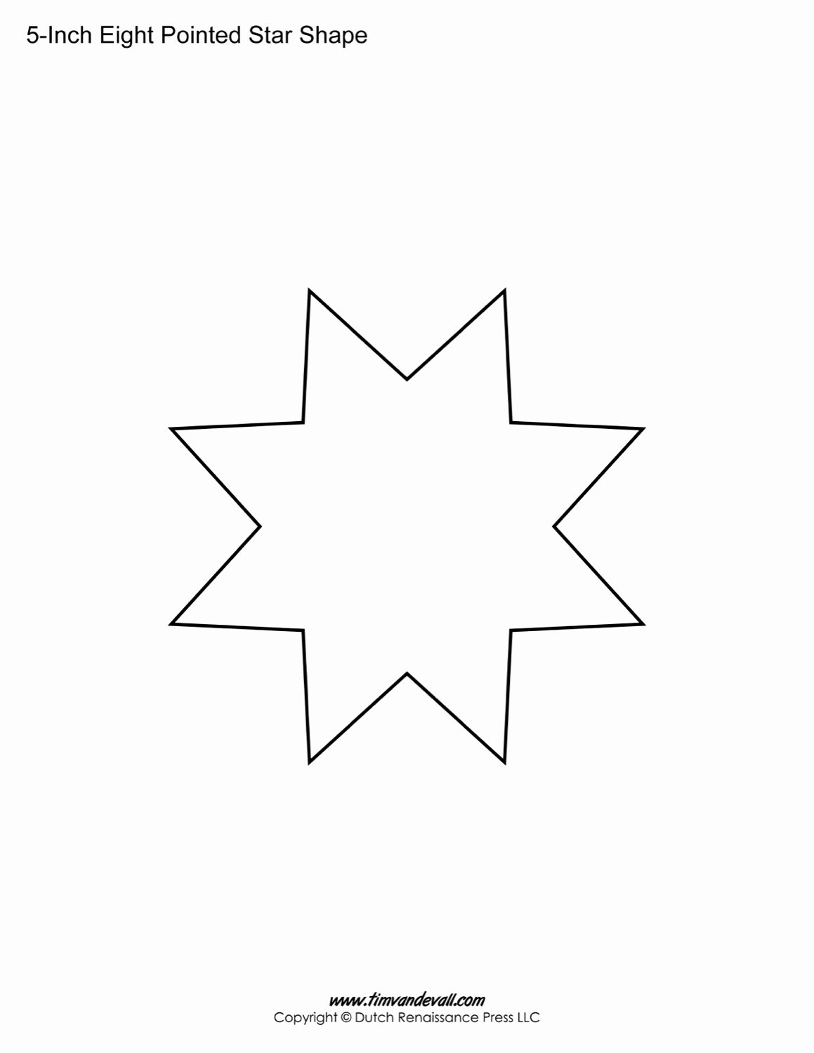 8 Point Star Template Inspirational Free Eight Pointed Star Shapes