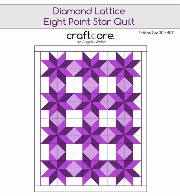 8 Point Star Template Luxury Diamond Lattice Eight Point Star Quilt Pattern Craftcore