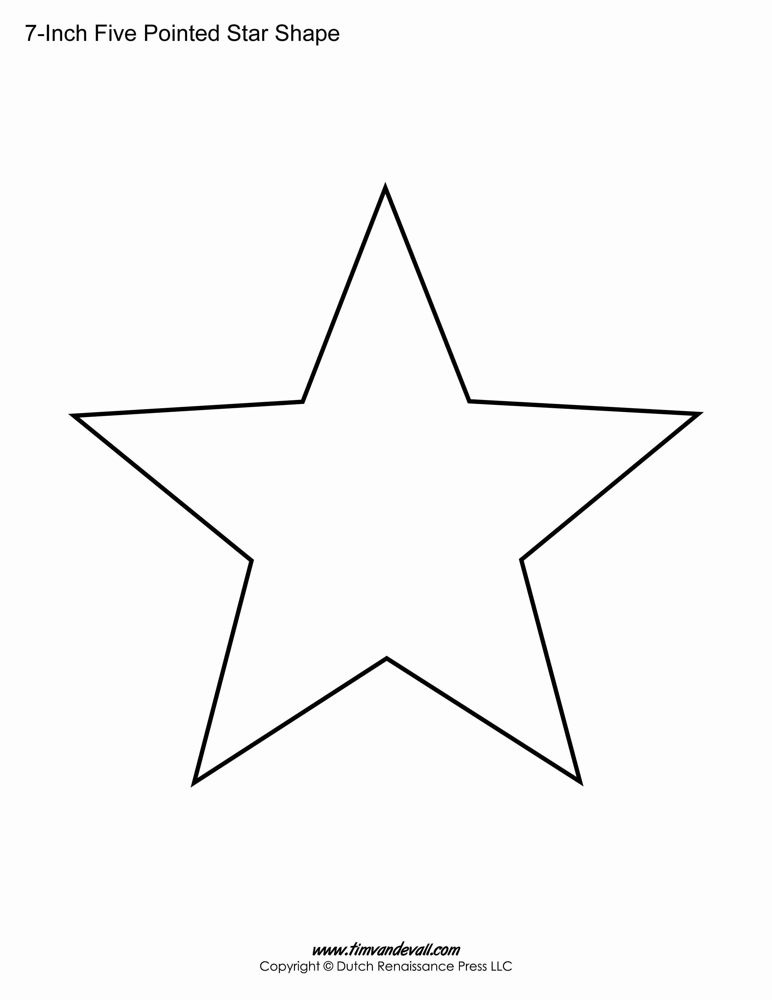 8 Point Star Template New 5 Pointed Star Crafts