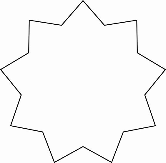 8 Point Star Template New Star Clipart and Stars On Pinterest