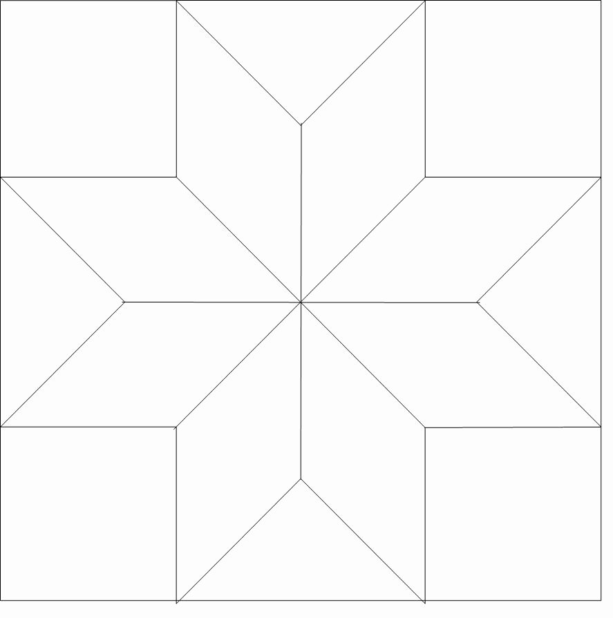 8 Point Star Template Printable Awesome 8 Point Star Outline 510 Longarm Quilt Blocks