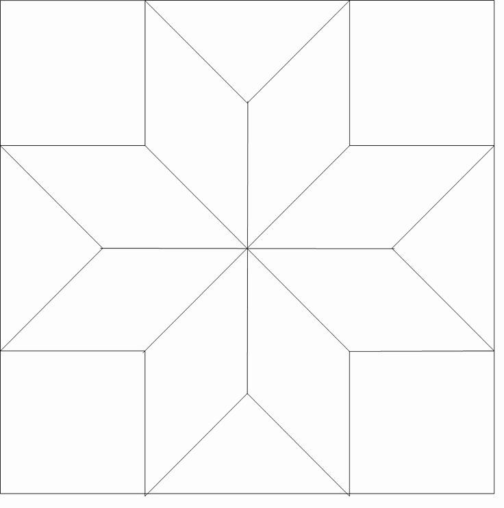 8 Point Star Template Printable Beautiful 8 Point Star Outline 510 Longarm Quilt Blocks