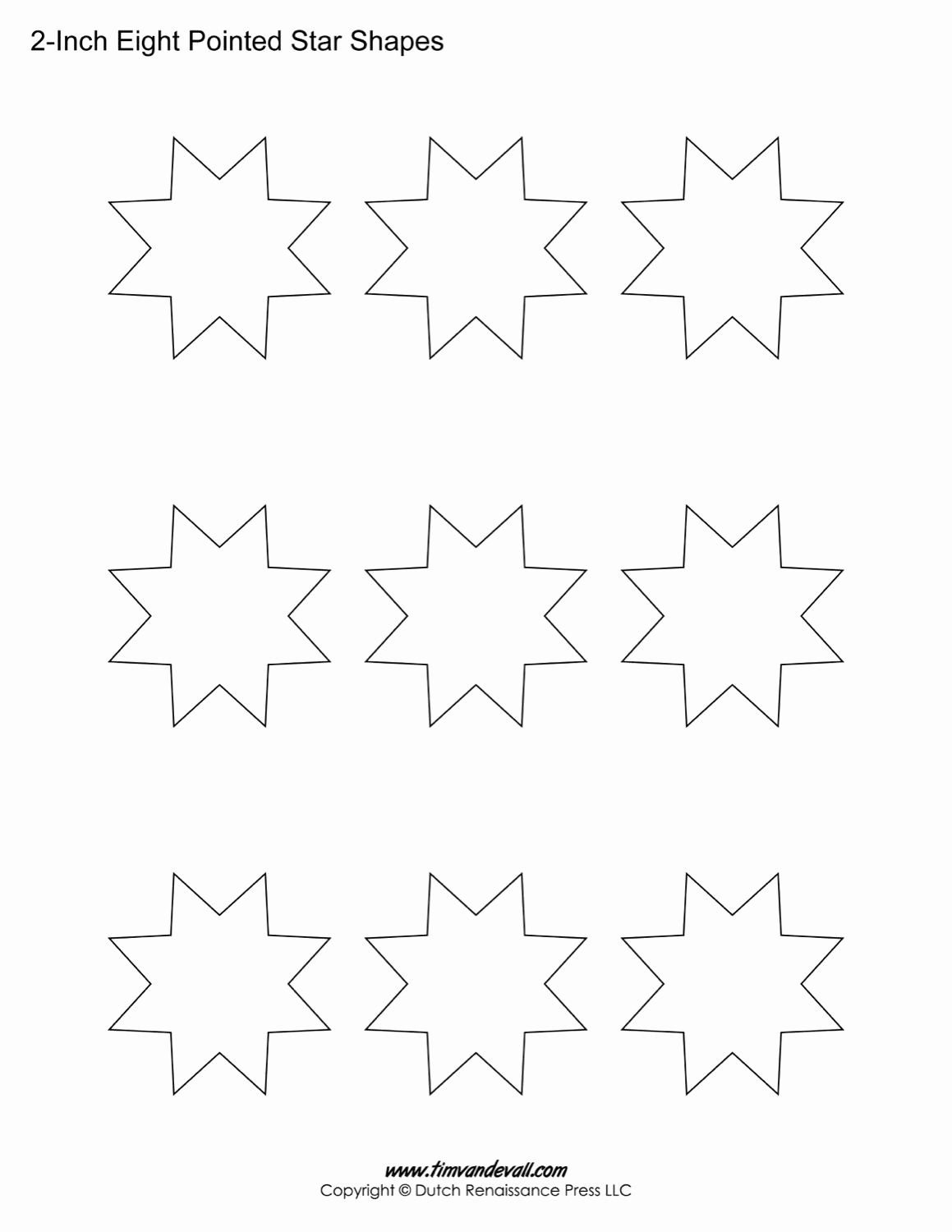 8 Point Star Template Printable Beautiful Star Template for Kids Coloring Home