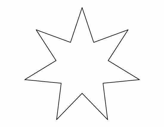 8 Point Star Template Printable Best Of Pin by Muse Printables On Printable Patterns at
