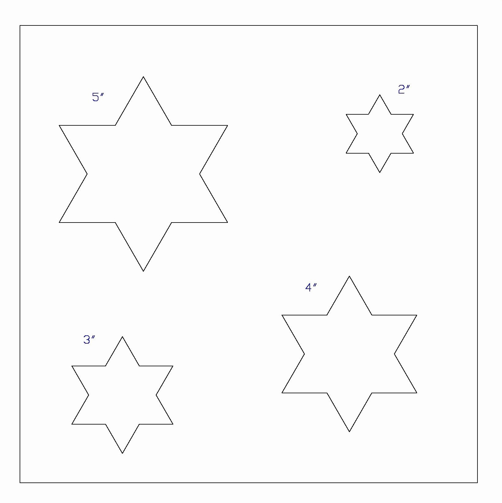 8 Point Star Template Printable Elegant 6 Point Stars Template