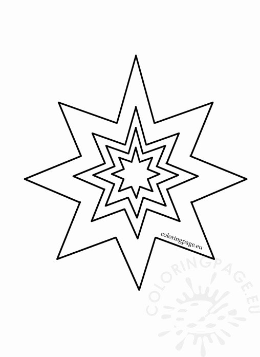8 Point Star Template Printable Fresh Coloring Page