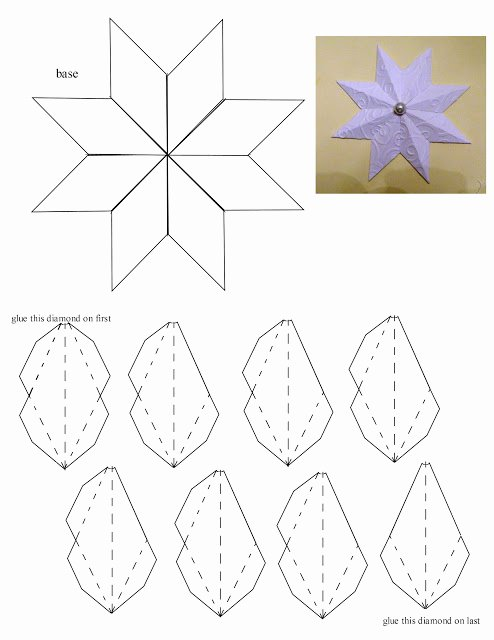 8 Point Star Template Printable Lovely Laura S Frayed Knot 8 Pointed Paper Star Christmas ornament