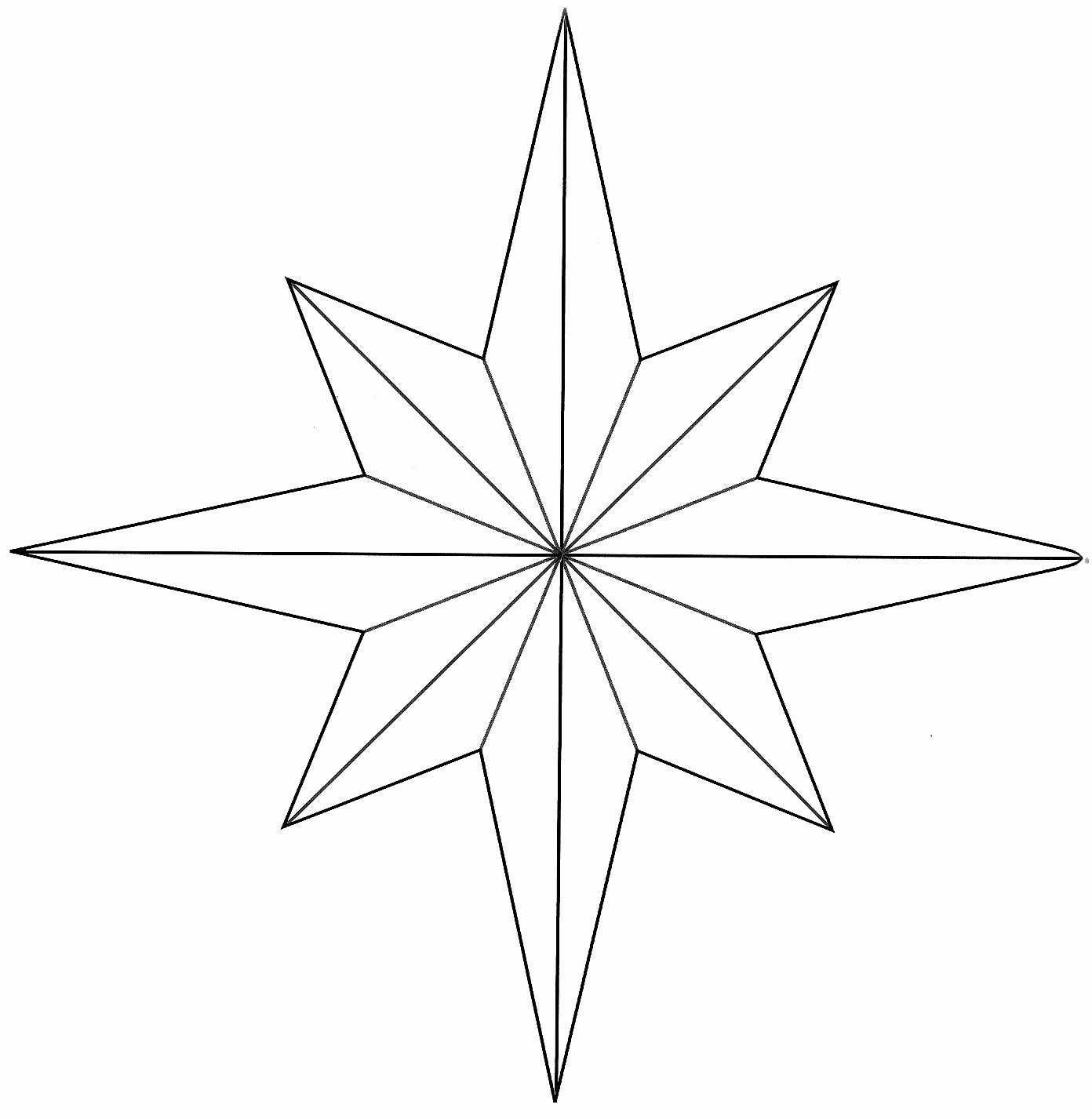 8 Point Star Template Printable Luxury I Wanted to Share This 8 Point Star Template that I Came