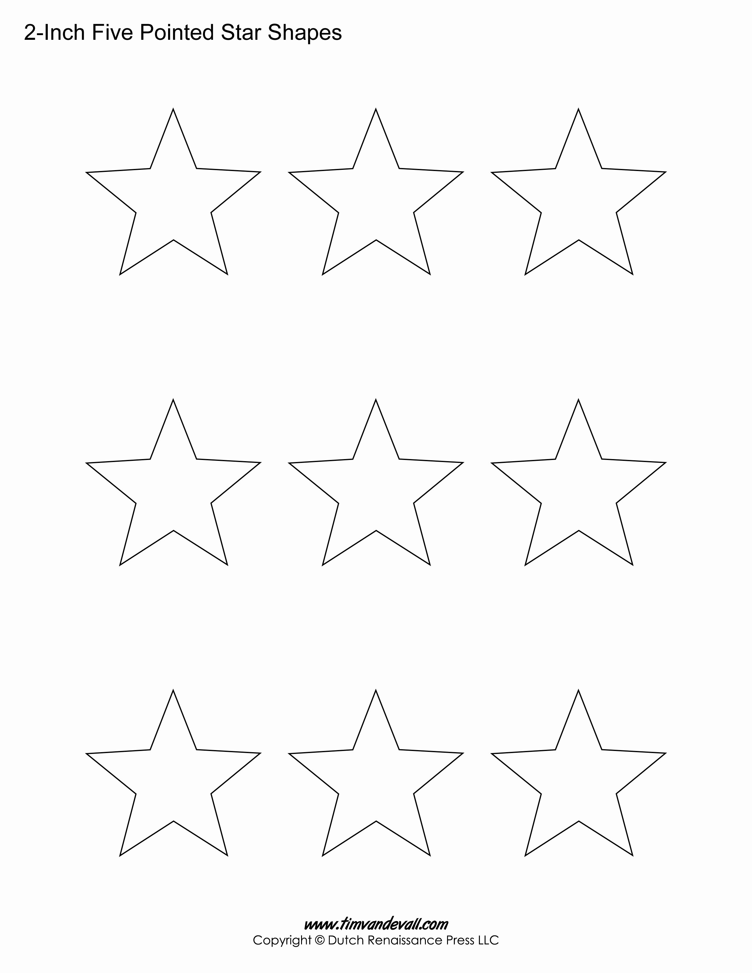 8 Point Star Template Printable Luxury Printable Five Pointed Star Templates Blank Shape Pdfs