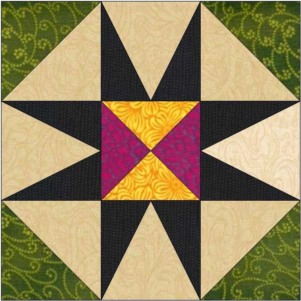 8 Point Star Template Unique 8 Pointed Star Block Pattern Quilt Block Instant Download