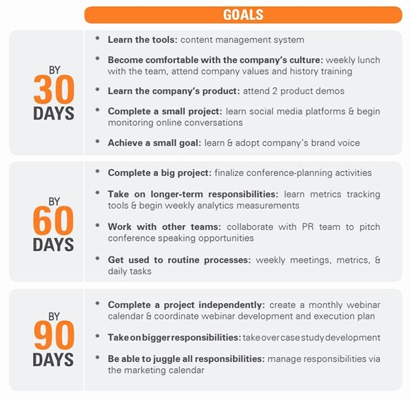 90 Day Goals Template Awesome 5 90 Day Plan for New Managers Examples Pdf
