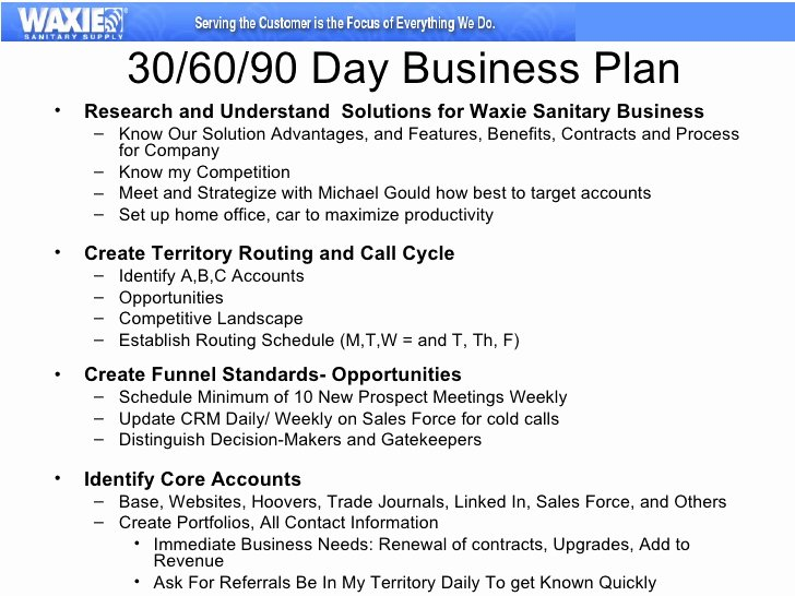 90 Day Goals Template Inspirational 30 60 90 Business Plan