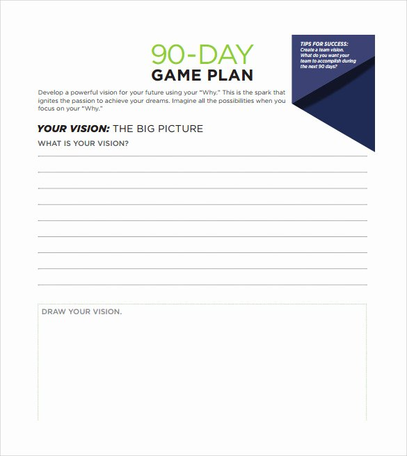 90 Day Goals Template New 20 30 60 90 Day Plan Samples Pdf Word
