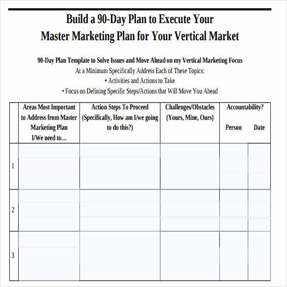 90 Day Goals Template New Sample 90 Day Plan 14 Documents In Pdf Word
