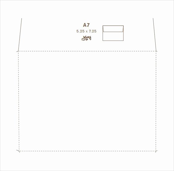 A7 Envelope Template Word Best Of Sample 5x7 Envelope Template