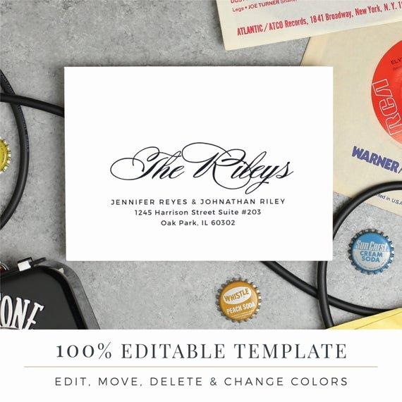 A7 Envelope Template Word Elegant A7 Envelope Template Printable Wedding Envelope Word or