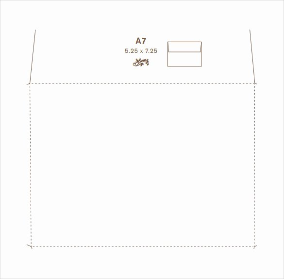 A7 Envelope Template Word Fresh 9 Sample A7 Envelopes