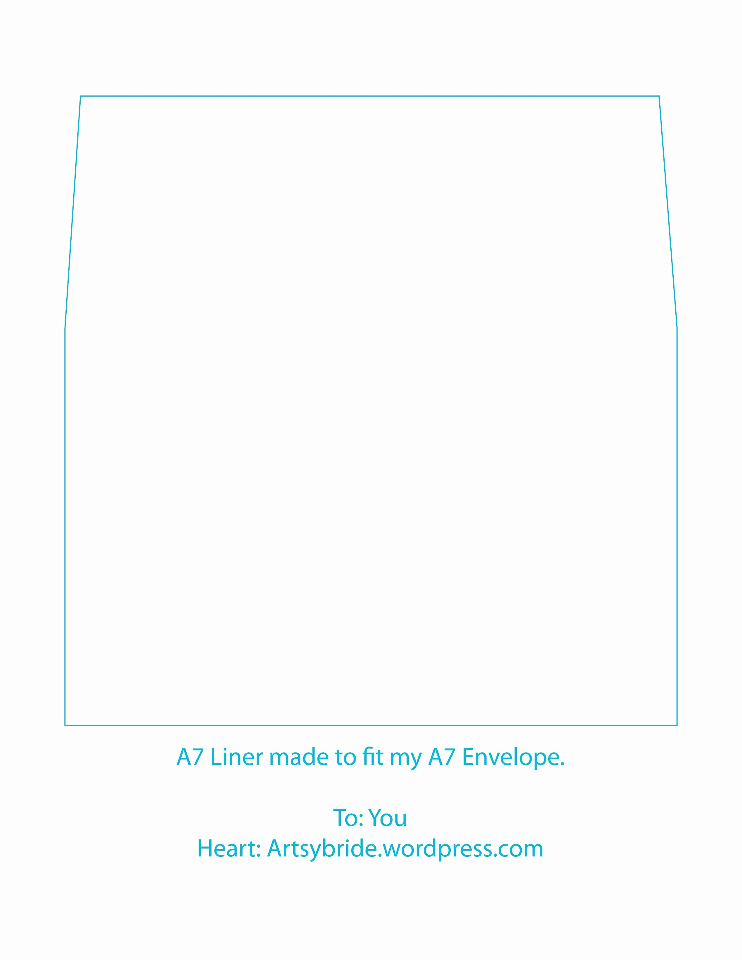 A7 Envelope Template Word Luxury Diy – Envelopes & Liners