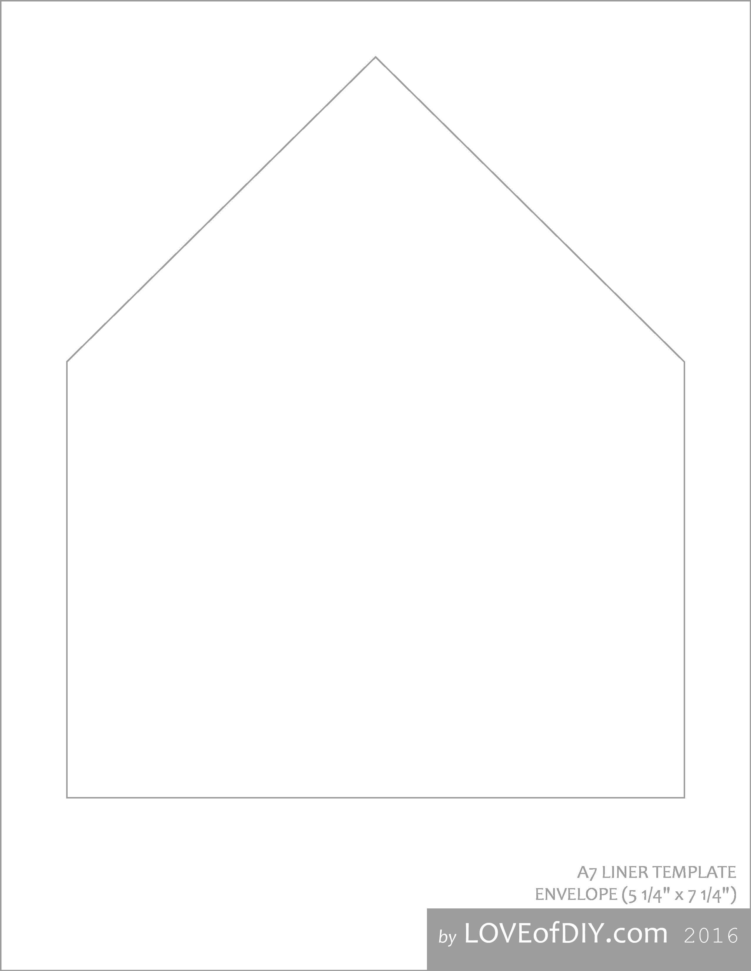 A7 Envelope Template Word Luxury Envelope Liner Tutorial