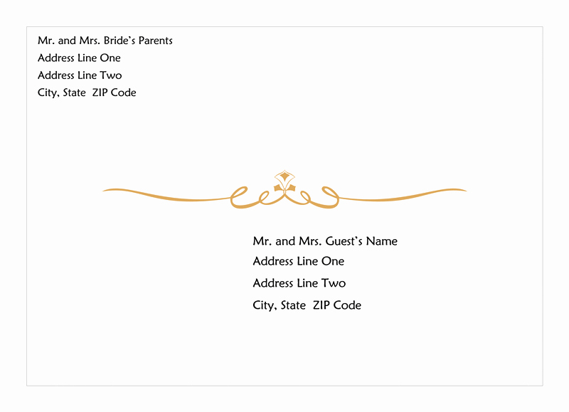 A7 Envelope Template Word New Wedding Invitation Envelope Heart Scroll Design A7 Size