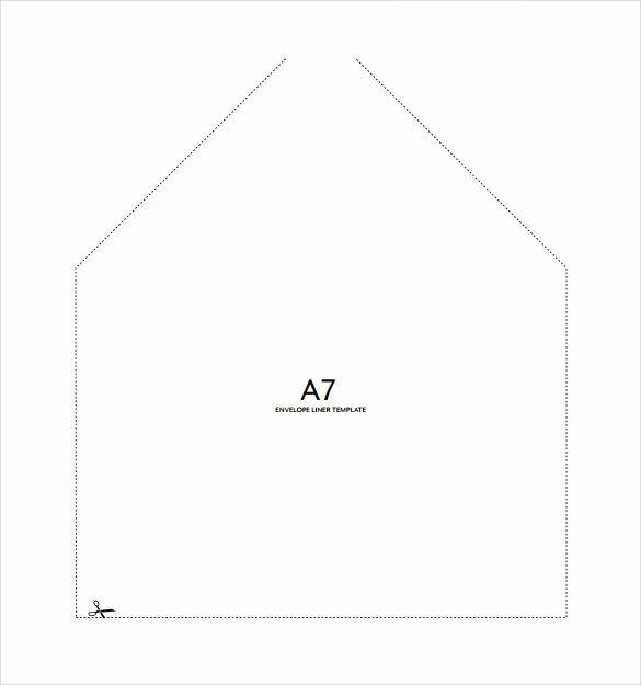A7 Envelope Template Word Unique 9 Sample A7 Envelopes