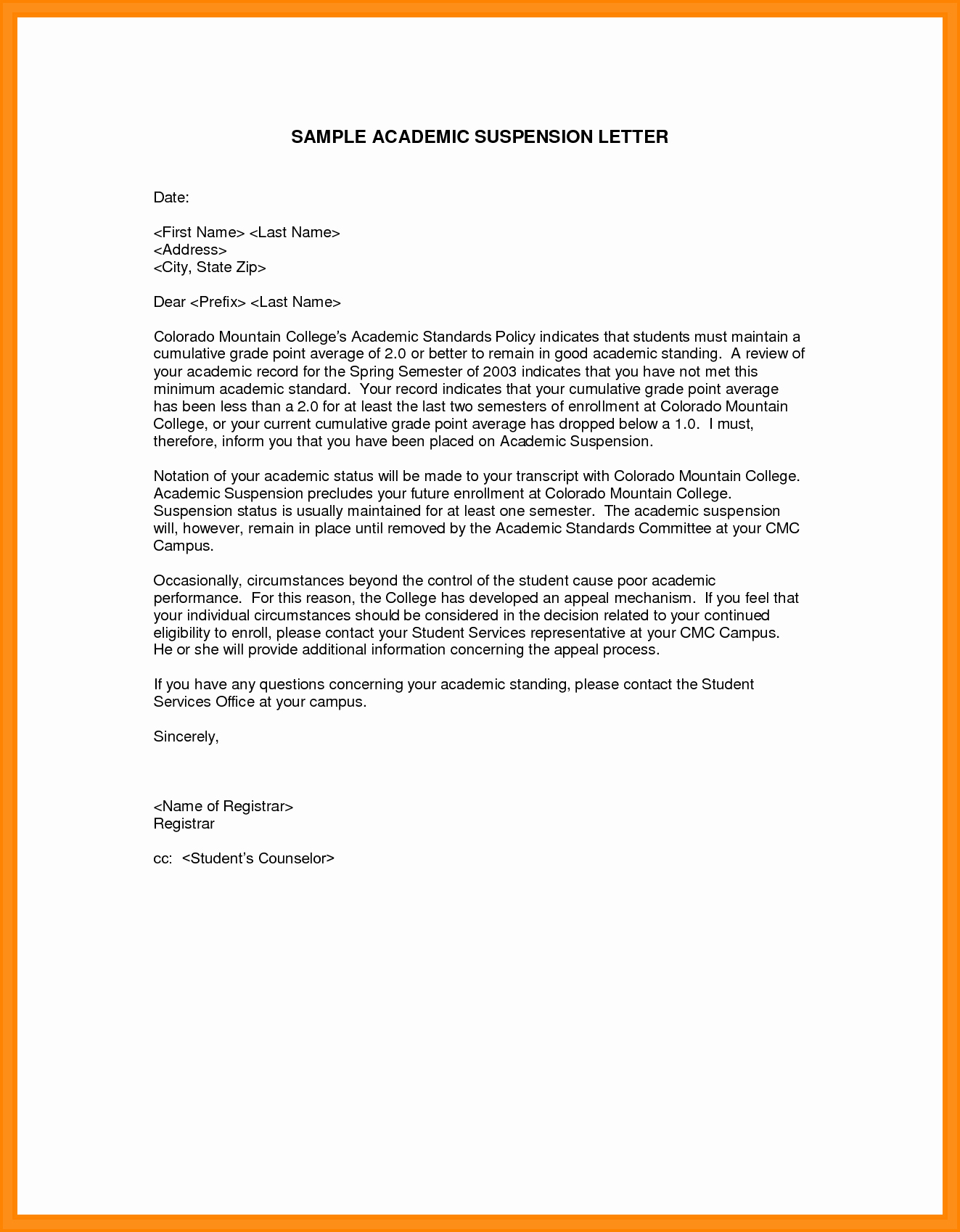Academic Appeal Letter Sample Beautiful 5 Sample College Appeal Letters