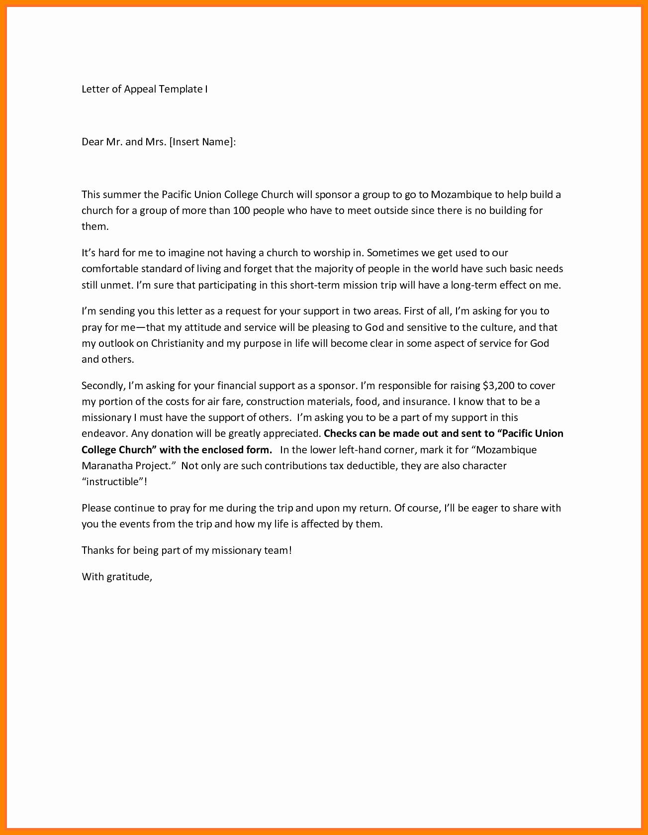 Academic Appeal Letter Sample Elegant 11 College Academic Appeal Letter