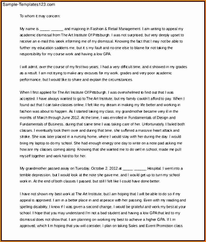 Academic Appeal Letter Sample New Academic Appeal Letter – Discover China townsf