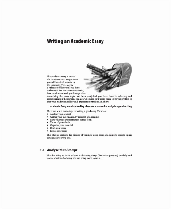 Academic Writing Sample Essay Best Of 7 Academic Essay Samples