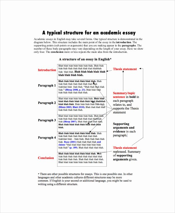 Academic Writing Sample Essay New 7 Academic Essay Samples