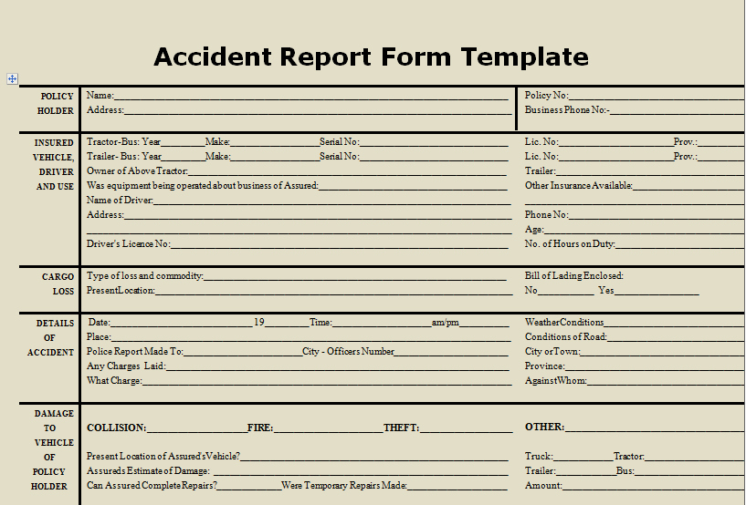 Accident Report form Awesome Download Accident Report form Template Microsoft Excel