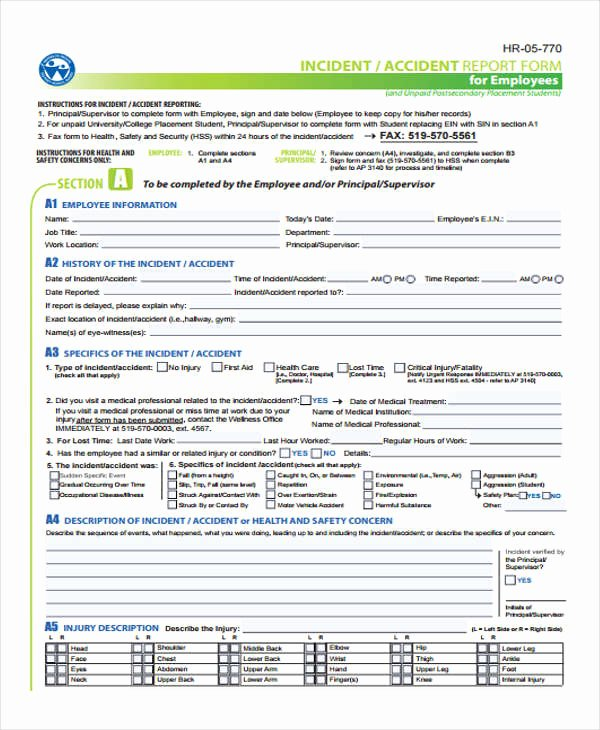 Accident Report form Pdf Awesome 29 Accident Report forms In Pdf