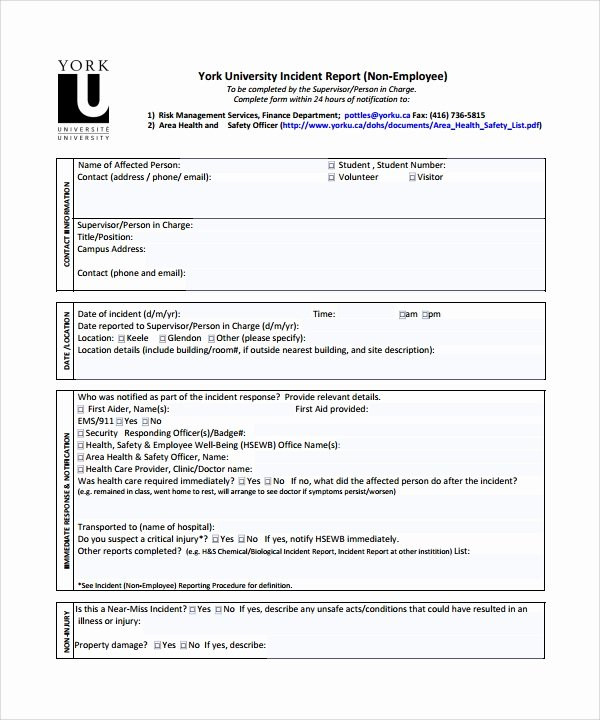 Accident Report form Pdf Beautiful 26 Sample Incident Report Templates