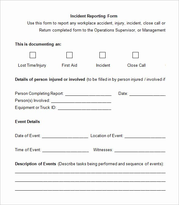 Accident Report form Pdf Luxury 14 Employee Incident Report Templates Pdf Doc