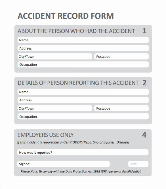 Accident Report form Pdf New Employee Incident Report Pdf