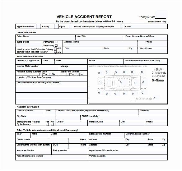 Accident Report form Pdf Unique 15 Sample Accident Report Templates Pdf Word Pages